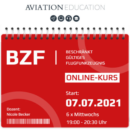 AVIATION EDUCATION - BZF I+II Online-Kurs - 07.07.2021