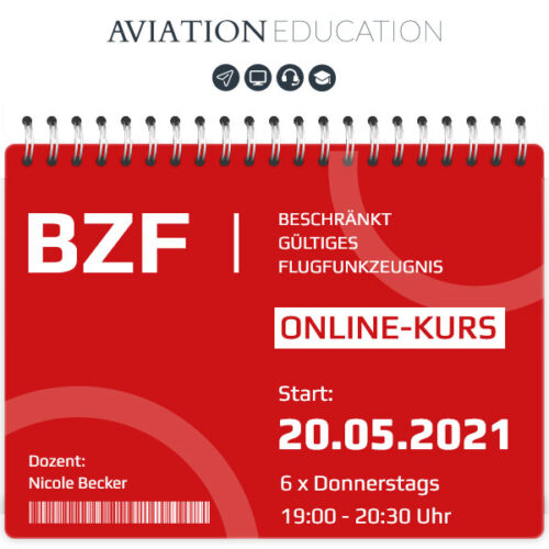 AVIATION EDUCATION - BZF I+II Online-Kurs - 20.05.2021